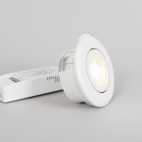 LED downlight FTLIGHT PALLAS, 6W, IP44, med dimmerfunktion, 3000K, vit