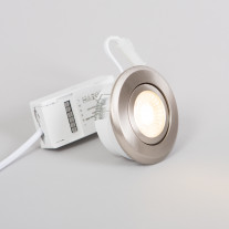 LED downlight FTLIGHT PALLAS, 6W, IP44, med dimmerfunktion, 3000K, krom