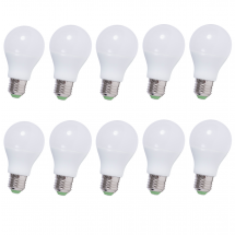 10PACK LED lampa E27 6W 470lm