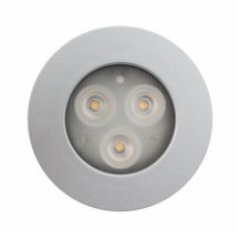 LEDSPOT downlight IP44 6,6/3,2W 280/480lm dimmerfunktion 350/700mA, silverfärgad ram